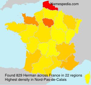 Surname Herman in France