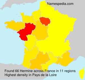Surname Hermine in France