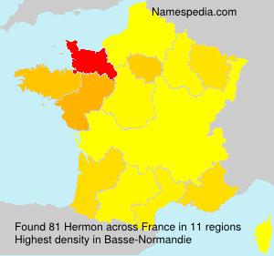 Familiennamen Hermon - France