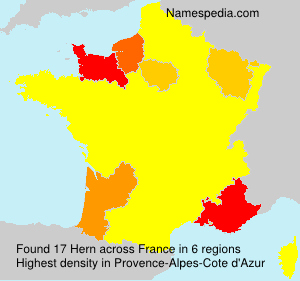 Surname Hern in France