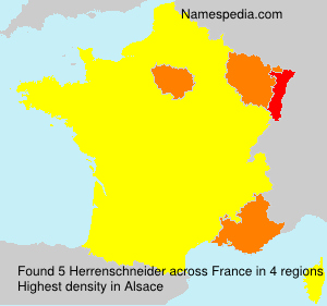 Surname Herrenschneider in France