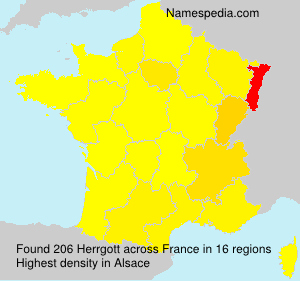 Surname Herrgott in France
