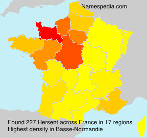Surname Hersent in France