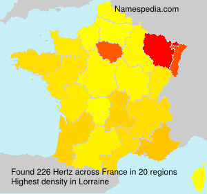 Surname Hertz in France
