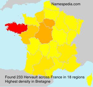 Familiennamen Hervault - France