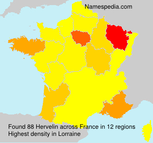 Surname Hervelin in France