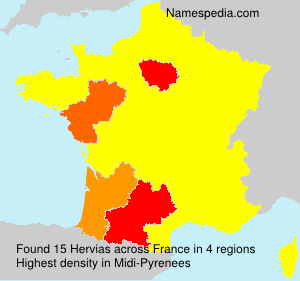 Surname Hervias in France