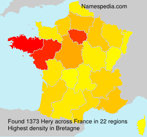Surname Hery in France
