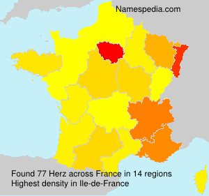 Surname Herz in France