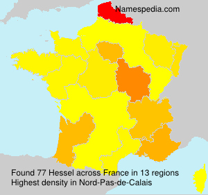 Surname Hessel in France