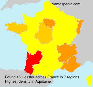 Surname Hessler in France