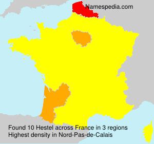 Surname Hestel in France