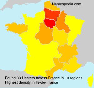 Surname Hesters in France