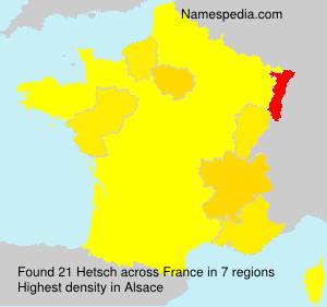 Surname Hetsch in France