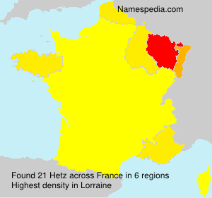 Surname Hetz in France