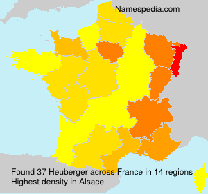 Surname Heuberger in France