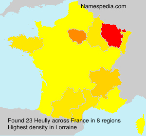 Surname Heully in France