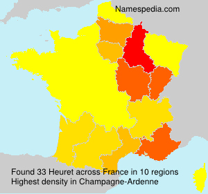 Surname Heuret in France