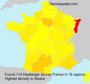 Surname Heyberger in France