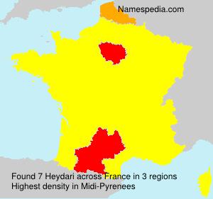 Surname Heydari in France