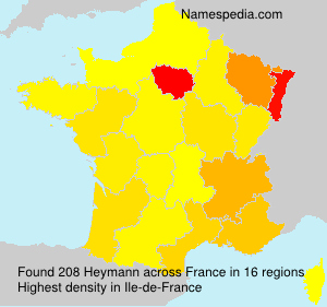 Surname Heymann in France