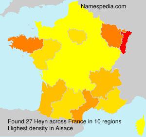 Surname Heyn in France