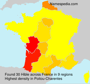Surname Hible in France