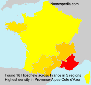 Surname Hibschele in France