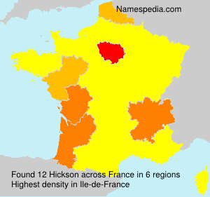 Surname Hickson in France