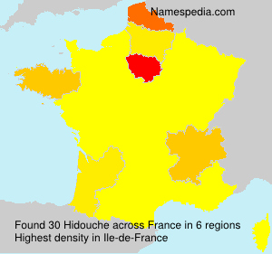 Surname Hidouche in France