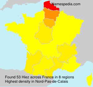 Familiennamen Hiez - France