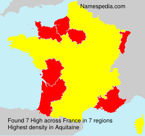 Surname High in France