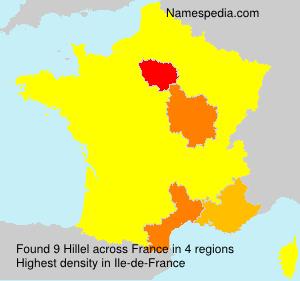Surname Hillel in France