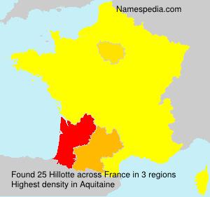Surname Hillotte in France