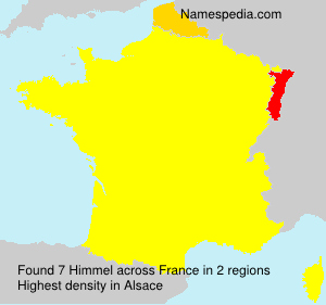 Surname Himmel in France