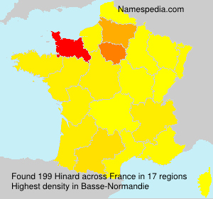 Surname Hinard in France