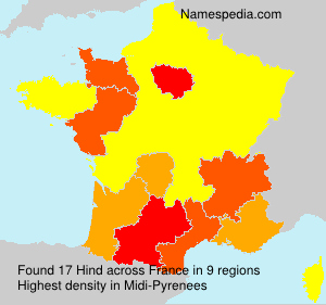Surname Hind in France