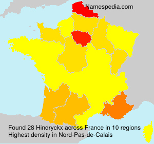 Surname Hindryckx in France