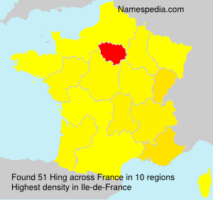 Surname Hing in France