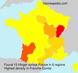 Surname Hinger in France