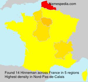 Surname Hinneman in France