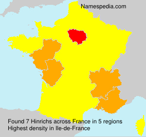 Surname Hinrichs in France