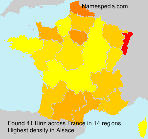 Surname Hinz in France