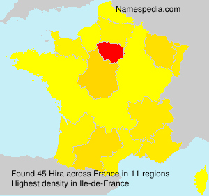 Surname Hira in France