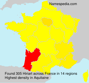 Surname Hiriart in France