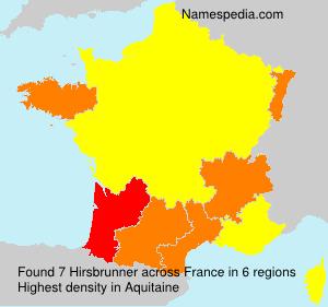 Familiennamen Hirsbrunner - France