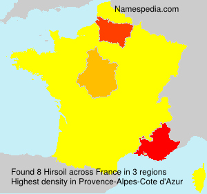 Surname Hirsoil in France