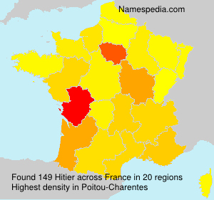 Surname Hitier in France