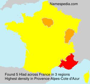 Surname Hlad in France