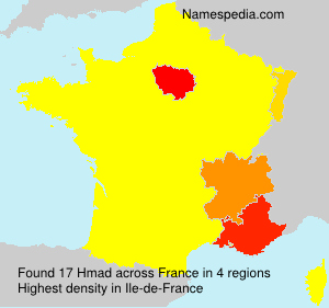 Familiennamen Hmad - France